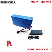 Аккумуляторная Солнечная батарея pack 48 В 25ah 1000 Вт перезаряжаемые высокое мощность 25ah литий ионный батарея пакет для батарейка Sanyo