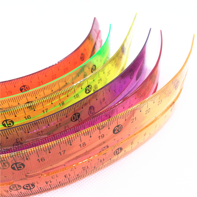 Drawing Rule Soft Ruler Student Foot Drawing Measuring Ruler Student School Office Stationery 30cm Plastic Soft Ruler Bending