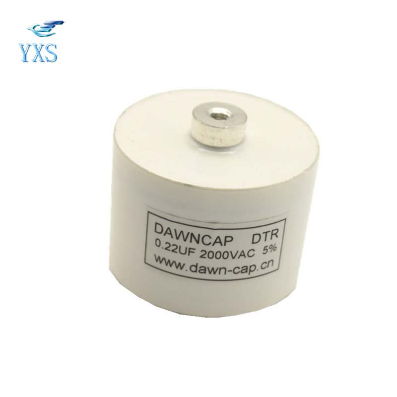DTR 2000VAC 0.22UF High Frequency High Voltage Resonant Capacitor dtr series 2uf 1200vac 2500vdc high frequency high voltage ac resonant capacitor 80a