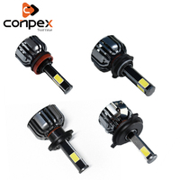 conpex 12v 35w 7000lm Car Headlight Bulbs LED canbus 4 side light cob for Fiat Tipo 500 500c Punto stilo bravo siena ducato