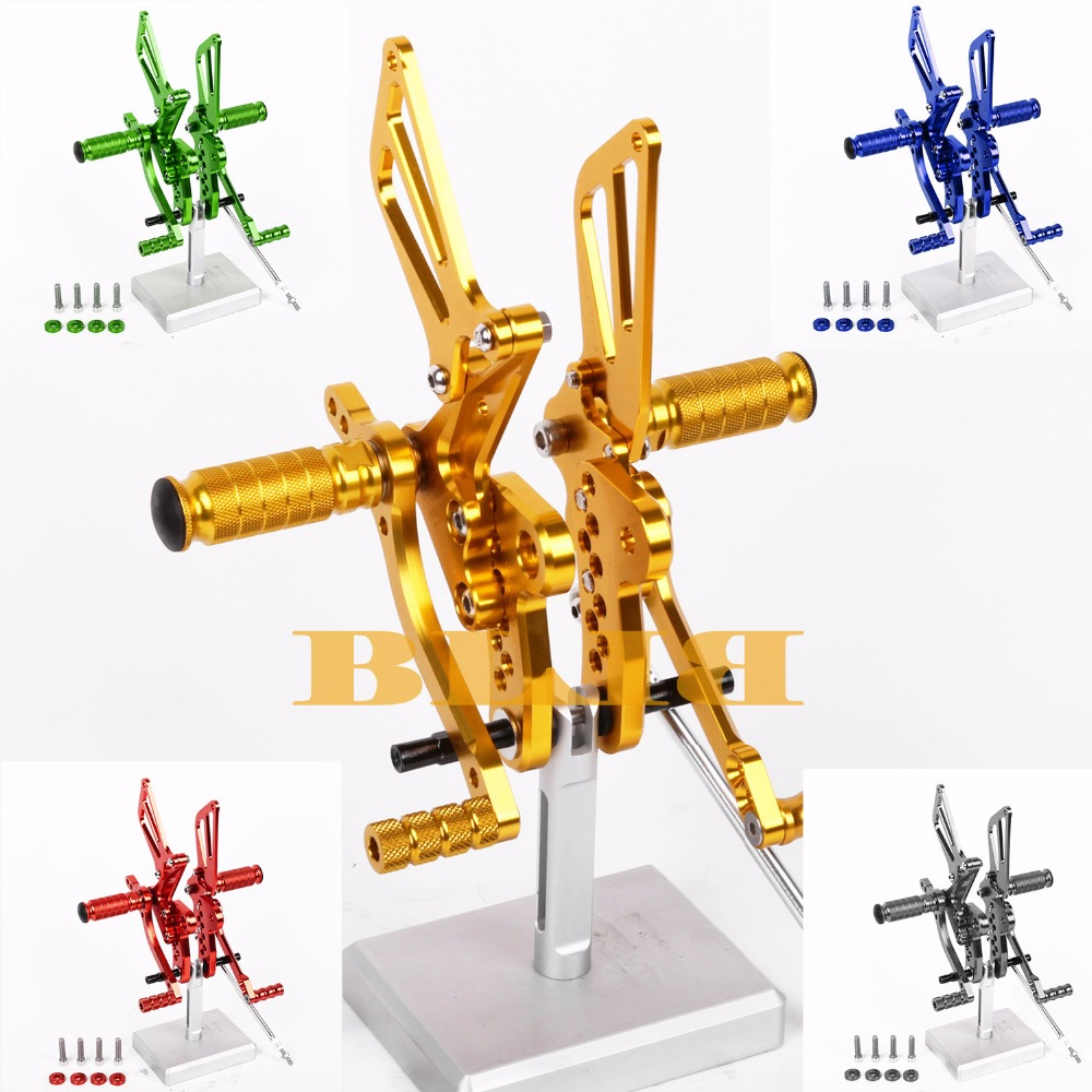 8 Colors For Suzuki GSXR 1300 Hayabusa 1999-2008 CNC Adjustable Rearsets Rear Set Motorcycle Footrest Foot Pegs 2000 2001 2002 free shipping motorcycle parts silver cnc rearsets foot pegs rear set for yamaha yzf r6 2006 2010 2007 2008 motorcycle foot pegs