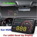 """Auto 5.5 """"Brisas Projetor HUD Head Up Display OBD II Carro De Diagnóstico de Dados niva samara sinete"""