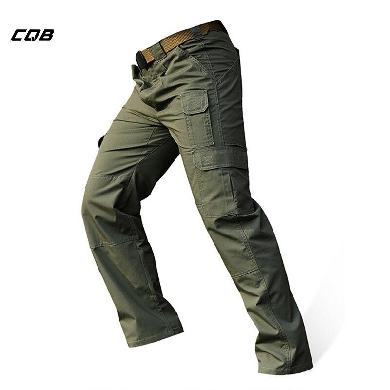 CQB Outdoor Sportovní taktické vojenské kempování Cestování Pánské kalhoty Anti-škrábaní Vodou odpuzující kalhoty pro turistiku Horolezectví