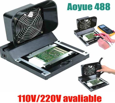 AOYUE 488 senior anti-static dual smoking device filter smoke meter smoking device+service platform fixture цена