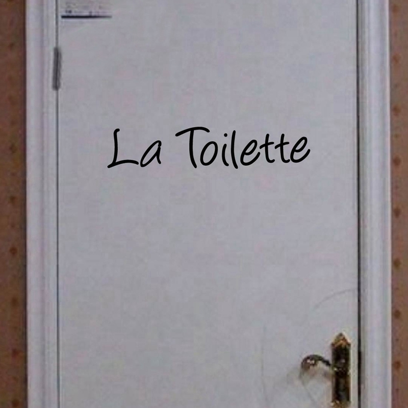 French Home Decoration -Toilet Entrance Sign sticker La Toilette Wall sticker quote decal for france home toilette decor