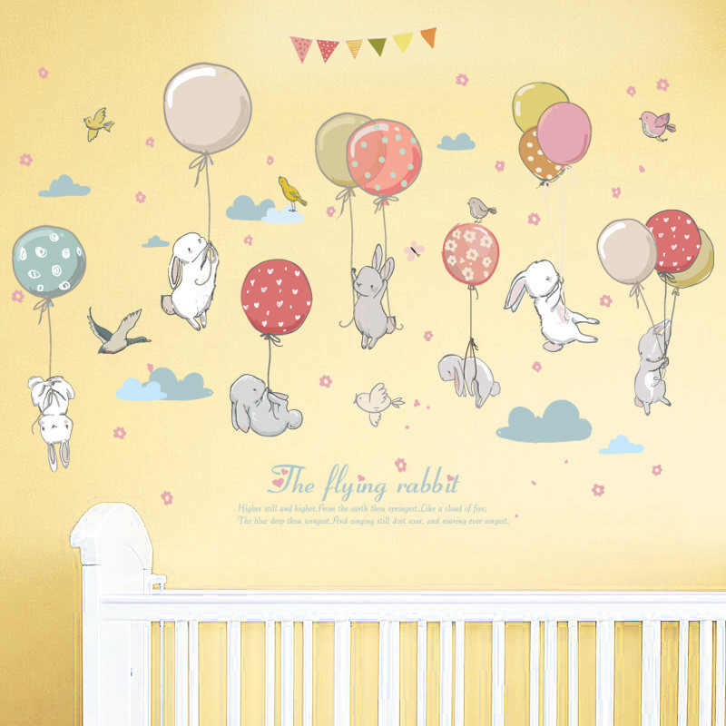 New listing Creative Cartoon pattern Wall Stickers Art Removable Home Vinyl Window Wall Stickers Decal Decor Safe for kids-in Wall Stickers from Home & Garden
