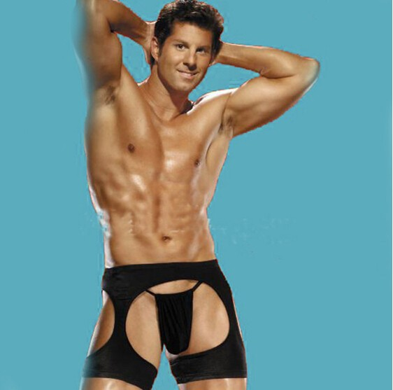 Fashion Black Men Thong Sexy Man Boxer Underwear Panties With A Hole New Style Fashion Welcome