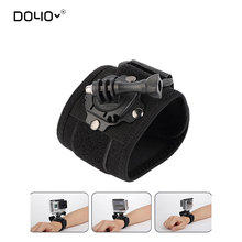 DOYOGopro Accessories 360 Degree Rotating Wrist Hand Strap Band Tripod Mount Holder For GoPro Hero 4 2 3 3+ SJ4000 Action Camera