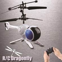 Helicóptero DO RC Aerocraft Libélulas 3 Channesl Mini Controle Remoto do Flash Colorido LED Disco Light-Up Brinquedo Voador dropshipping(China)