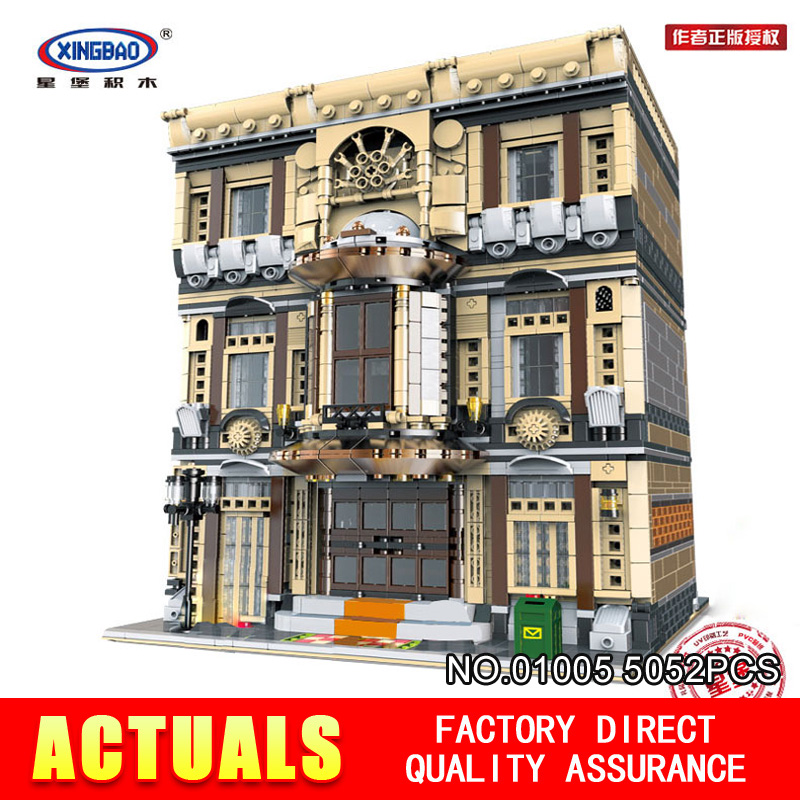 XingBao 01005 5052Pcs Block Genuine Creative MOC City Series The Maritime Museum Set Building Blocks Bricks Toys Model Gifts the maritime engineering reference book