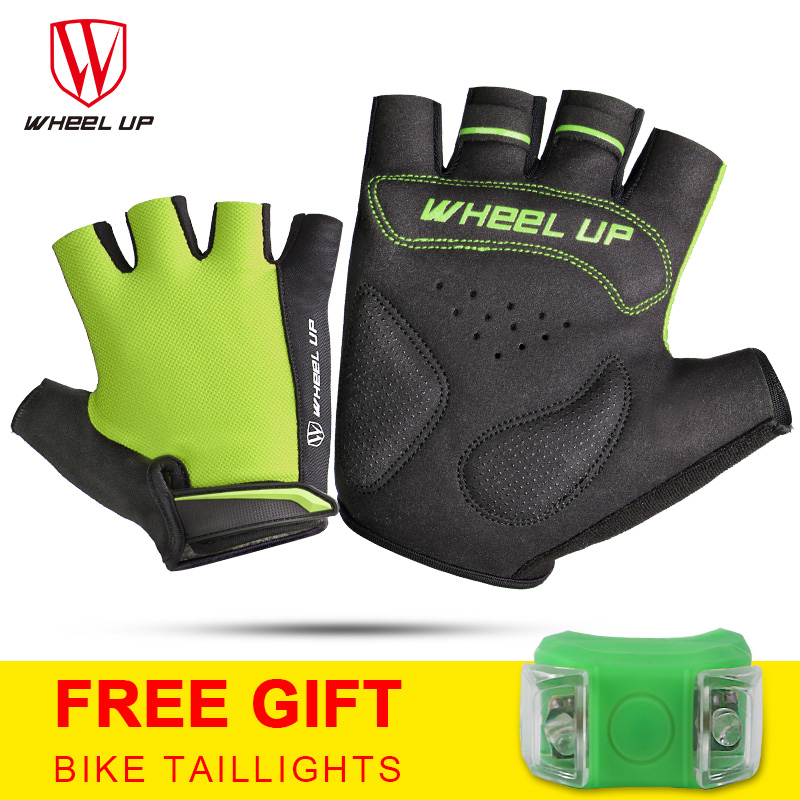 WHEEL UP Cycling Gloves Half Finger Bicycle Non slip Anti skid Soft Breathable Lycra Guantes Ciclismo Mittens bike gloves in Cycling Gloves from Sports Entertainment