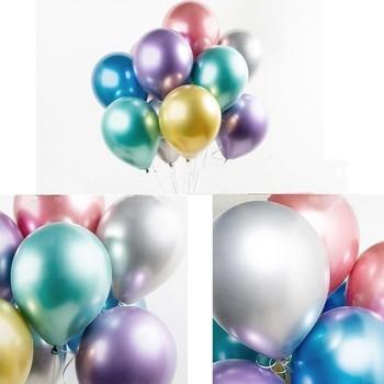 30 sztuk metaliczny lateksowy balon z helem przyjęcia urodzinowe dekoracje dla dzieci dorosłych wystrój Anniversaire materiały na wesele balon tanie i dobre opinie bright balloons ROUND Ślub i Zaręczyny Birthday party Dzień dziecka Prima aprilis Dzień ojca THANKSGIVING Walentynki