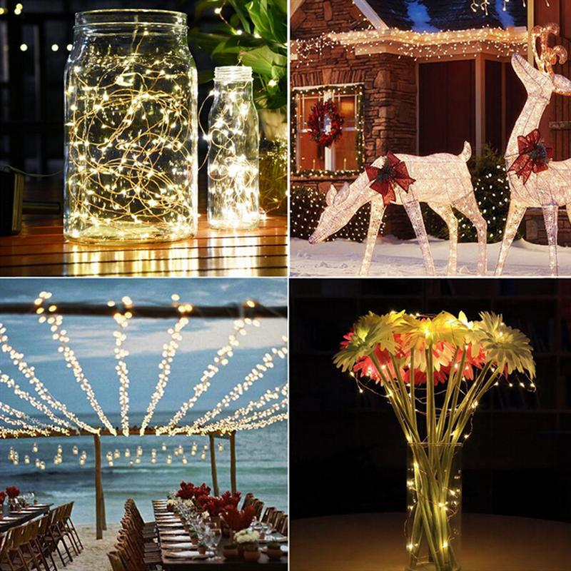 1.2V 10M/33Ft 100 LEDs Waterproof Solar Fairy String Lights Copper Wire Ambiance Lighting for Garden Patio Xmas Wedding