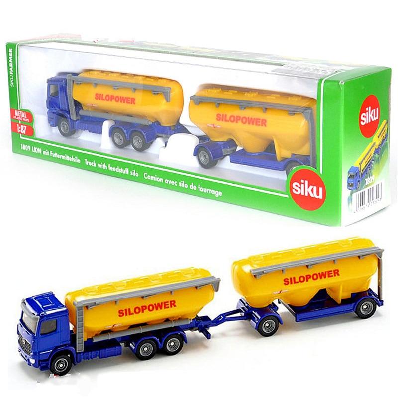 SIKU 1:87 Alloy Tanker Truck Toy Simulation 1809 LKW Oil Transporter Model Trailer Truck Kids Toys  Car 怪奇 ゾーン グラビティ フォールズ ステッカー