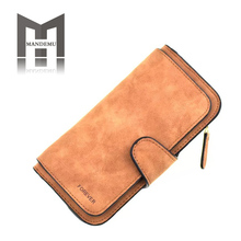 цена на 2019 New Women Wallets Coin Case Purse For Phone Card Wallet PU Leather Purse Long Purse Vintage Buckles Small bags bolsa hot