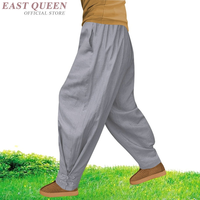 Buddhist monk costume clothing shaolin kung fu pants linen male men wushu monk pants FF801