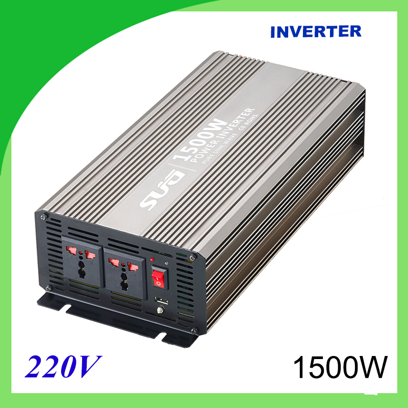1500W pure sine wave solar power inverter DC 12V 24V to AC 110V 220V digital