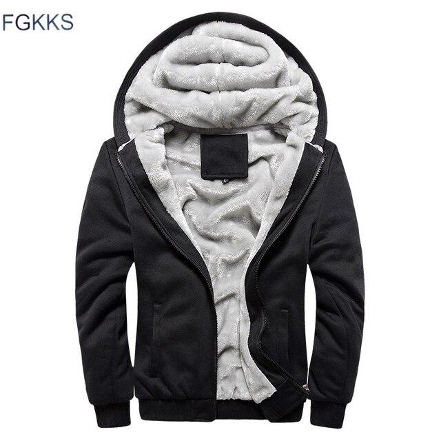 FGKKS, высокое качество, мужские толстовки, топы, осень, зима, мужская мода, с капюшоном, утолщенная, толстовка, мужская, теплая, модная, толстовки