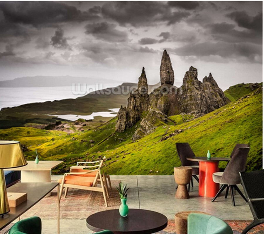 Custom natural landscape wallpaper,Old Man of Storr, Scotland,3D photo mural for living room bedroom sofa wall papel de parede large mural papel de parede european nostalgia abstract flower and bird wallpaper living room sofa tv wall bedroom 3d wallpaper