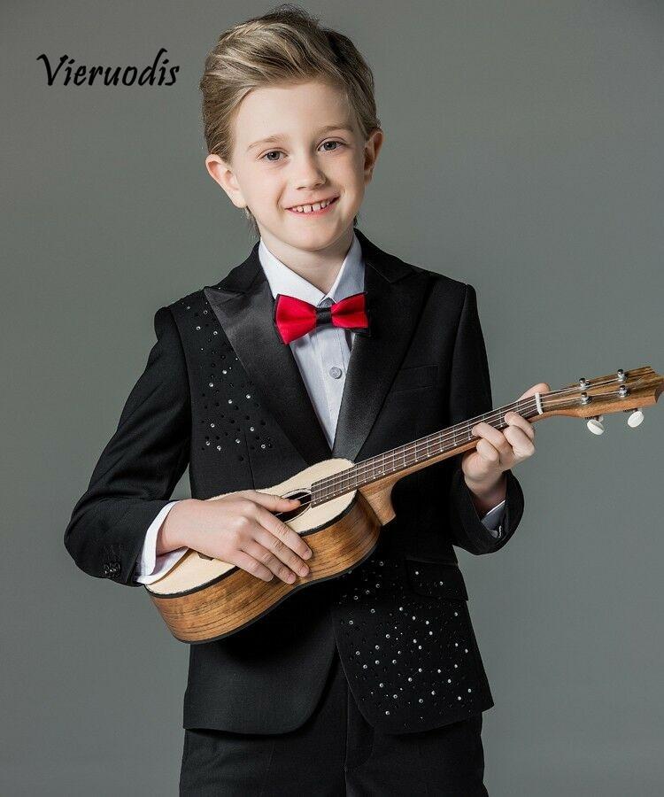 Hot Wedding Groomsmen Suits Children Kids' Formal Party Tuxedo Flower Suit 2 Pcs