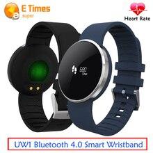 Новый UW1 Bluetooth 4.0 Смарт Спорт браслет зеркало OLED Экран сердечного ритма Мониторы Водонепроницаемый напоминание для Android и IOS