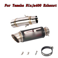 Motorcycle Slip on Exhaust system With Muffler Fit For Kawasaki ninja 400 ninja400 Z400 2018 2019 middle pipe with exhaust