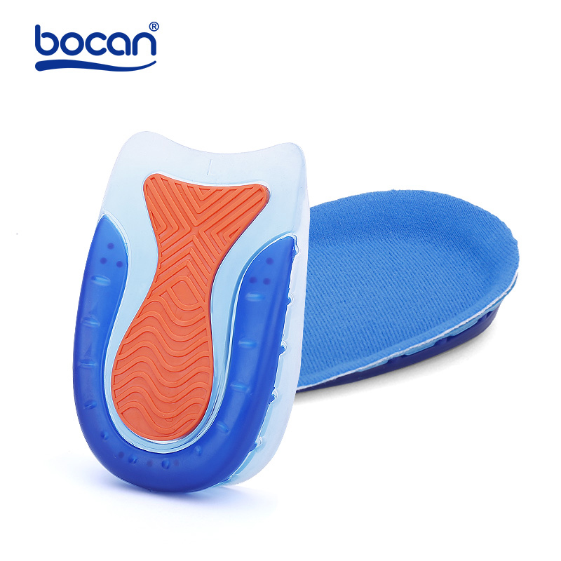 BOCAN Gel Insoles For Spur Plantar Fasciitis Insoles Shock Absorption Comfortable Shoe Insoles Gel For Men And Women