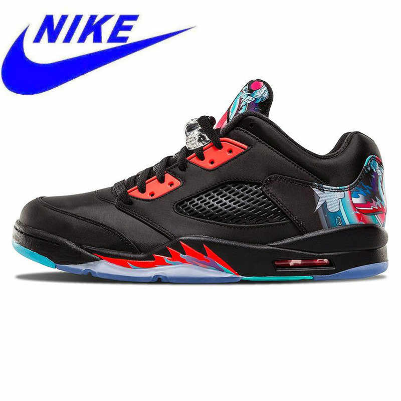 51fb0432e9a Original Nike Air Jordan 5 Retro Low CNY Chinese Kite Men Basketball Shoes