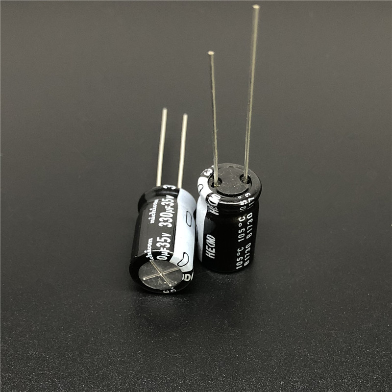10Pcs/100pcs 330uF 35V NICHICON HE Series 10x16mm Extremely Low Impedance 35V330uF Aluminum Electrolytic Capacitor
