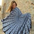 2016 Durável toalha de Praia Chiffon Toalha Cobertura Mandala Up Rodada praia Piscina Chuveiro Casa Cobertor Toalha Tapete Toalha de Mesa a partir de india