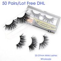 50 пар оптом DHL Visofree 5D 25 мм норковые ресницы ручной работы полная полоска норковых ресниц безжалостный накладной макияж ресниц