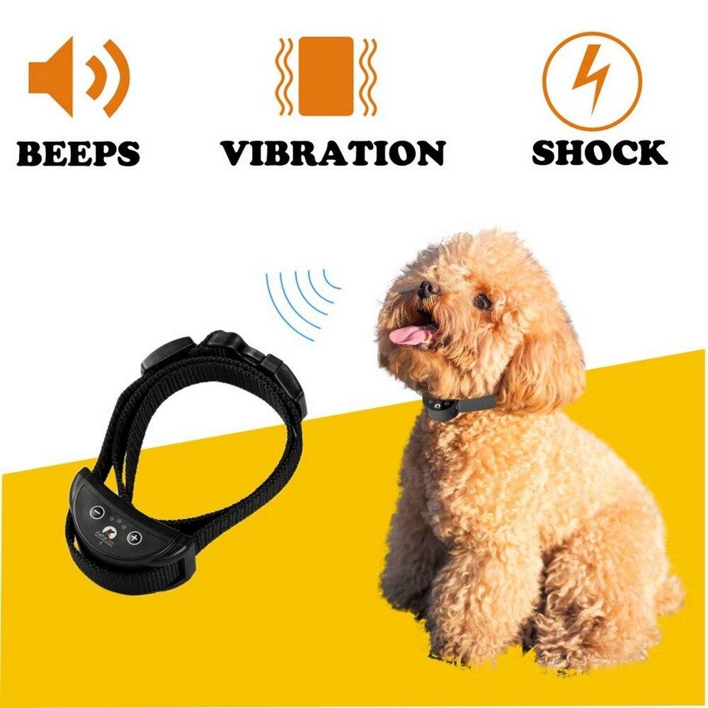 Pet Dog Anti Bark Collar Suitable For Small Dog Adjustable Sensitivity Automatic Vibration Shock Anti Dog Bark Collar