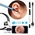 2 em 1 USB Limpeza Da Orelha Kits de Ferramentas de Remoção de Cera Earpick Com Mini Câmera Endoscópio HD suporta todos os sistemas de smartphones venda