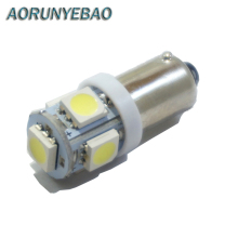 AORUNYEBAO 100PCS  BA9S T11 T4W 363 Cold White Red green   Yellow  Pink 5LED 5050 SMD Car Styling Wedge Side Light Lamp Bulb 12V car marker lamps ba9s t4w 5050 smd 5 led tower 96 lumen auto wedge marker light led bulb dc12v white ice blue yellow red