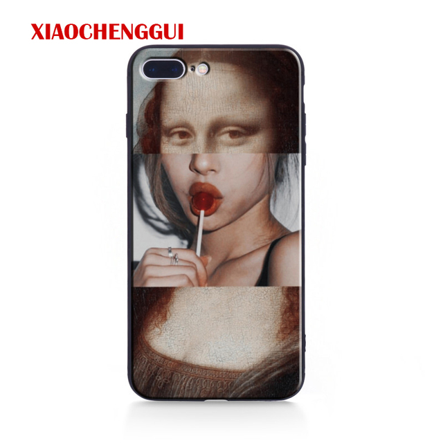 For iphone x case Mona Lisa Art David lines soft silicone Phone Case cover For Apple iPhone 5 5S SE 6 6s 7 8 Plus XR XS Max case 1