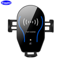 Riggler Infrared Dual Induction Car Wireless Charger 10W Fast Charging Holder Air Vent Mount for iphone X XR Huawei Mate 20Pro