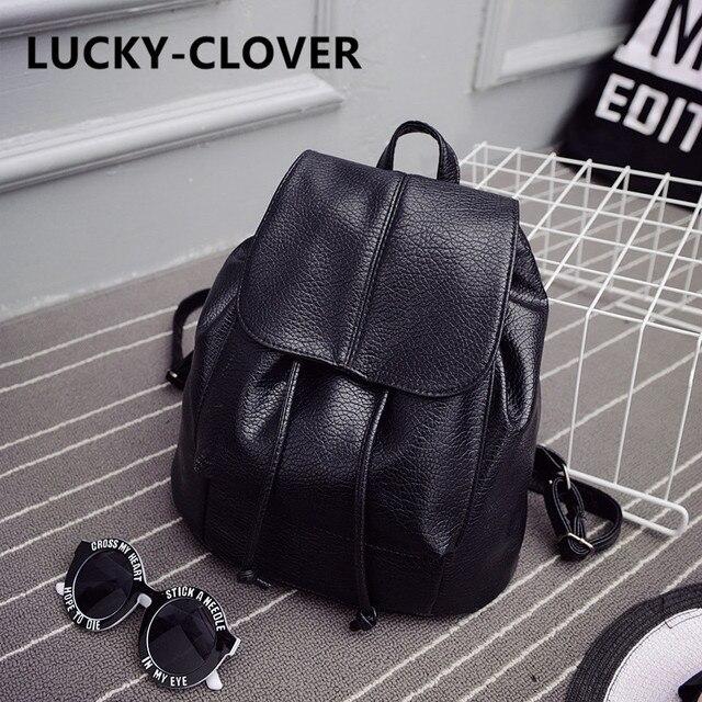 2016, лето, новый колледж ветер школьный промывали кожа рюкзак женщина Корейский приливные моды отдыха и путешествий сумка Бутик рюкзаки
