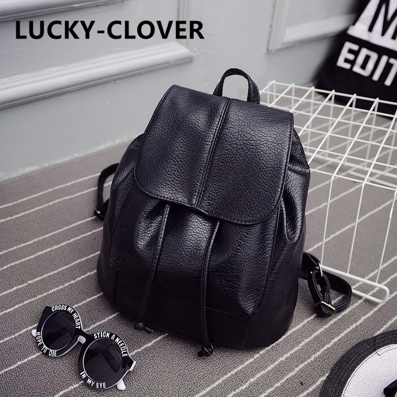 2016 summer new college wind schoolbag washed leather backpack woman Korean tidal fashion leisure travel bag