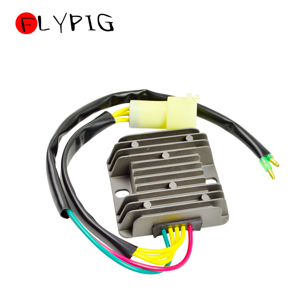 New Black Motorcycl Voltage Regulator Rectifier For Honda