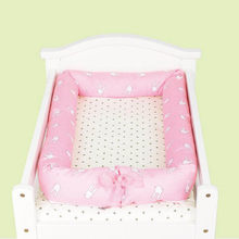 Removable Newborn Sweet Sleeper Bed Cushion Pillow Washable Baby Cot Protector Crib Toddler Bebe Cradle Bassinet Nest 0-1Year(China)