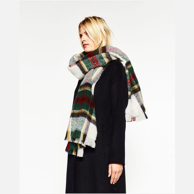 Designer de moda Marca Homens Inverno Pashmina xale Xadrez Cachecol de Caxemira Cape Cobertor de Retalhos Quente Macio e espesso Sciarpa Z1710