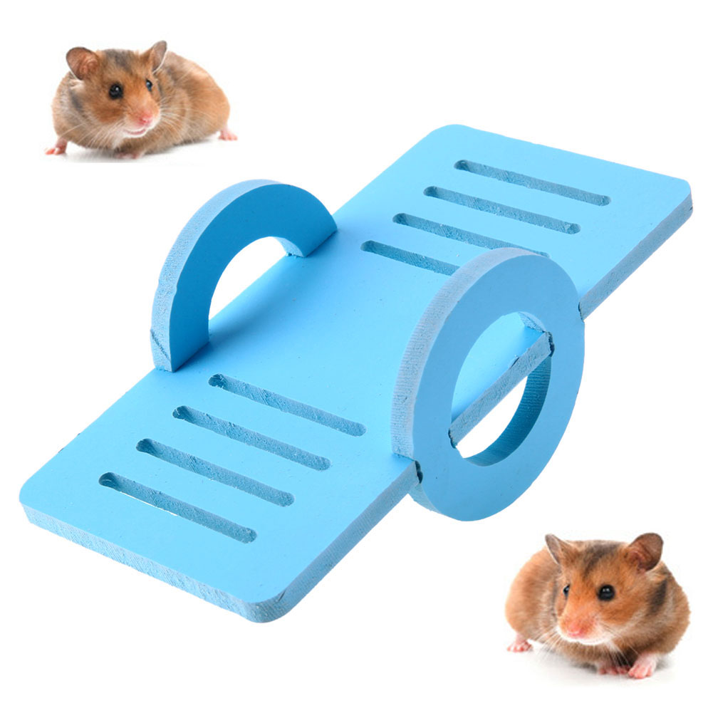 Funny Hamster Toys Wooden Pet Bird Cage Nest Seesaw Exercise Play Toys for Small Animal Pets Products