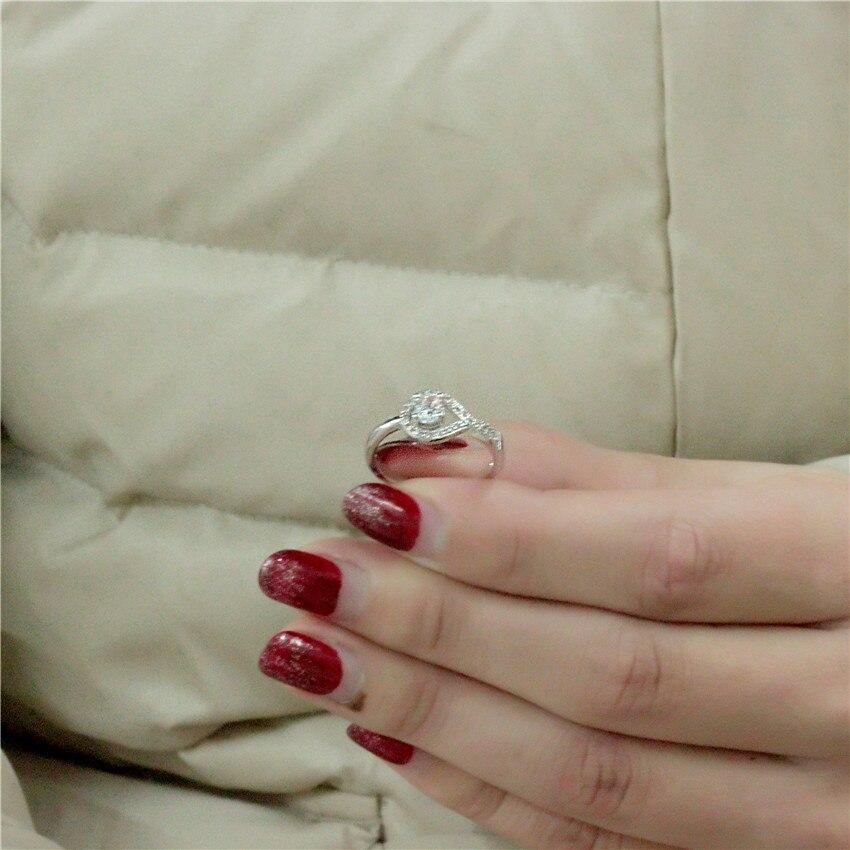 2cbba308dd0c Almei boda accesorios Color plata anillos para las mujeres anillo Anel  regalo del Día de San Valentín Bisuteria mis pedidos WX022 en Anillos de  Joyería y ...