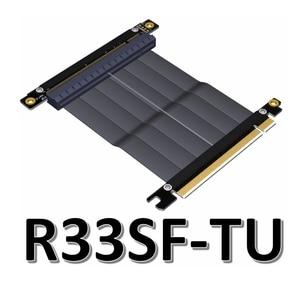Image 2 - Cabo adaptador de placa mãe pcie x16 para x16, extensão de placas gráficas com ângulo de 90 graus para itx, placa mãe, chassis, mini pc estojo