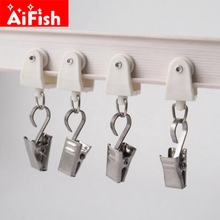 Curtain Accessories Sliver And Black Stainless Steel Drape ClipS Curtain  Rod Hook Clips Clamps Drapery Clips