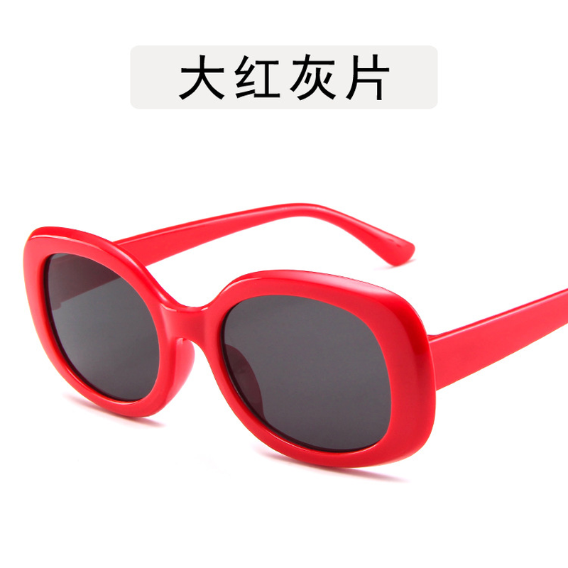 Cat Brand Women Sunglasses Brand Designer Luxury Fashion Oval Round Frame Red Lens Retro Eye Sun Glasses Women 2019 in Women 39 s Sunglasses from Apparel Accessories