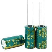 50v470uf 470 فائق التوهج 50 فولت الحجم: 10*20 مللي متر أفضل نوعية جديدة أصلية