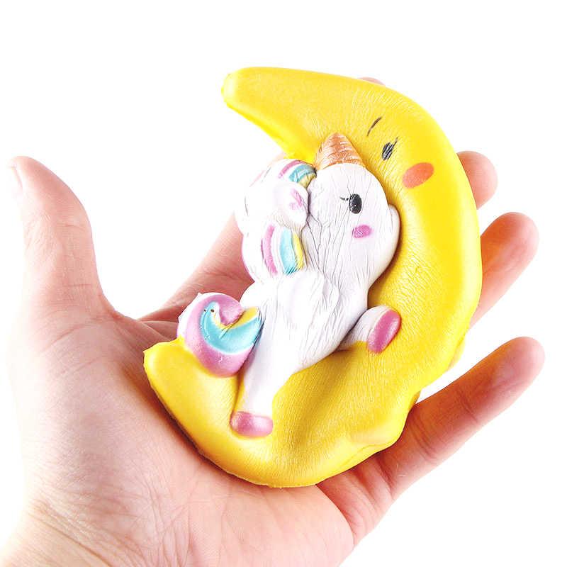 Jumbo Kawaii Moon Pegasus Unicorn мягкие медленно растущие сжимаемые игрушки ароматизированные мягкие целебные антистрессовые игрушки для снятия стресса 11*10 см