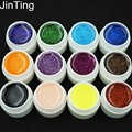 12 Color Glitter uv gel Builder Polish Set Tips nail Varnish gel for nail art tools