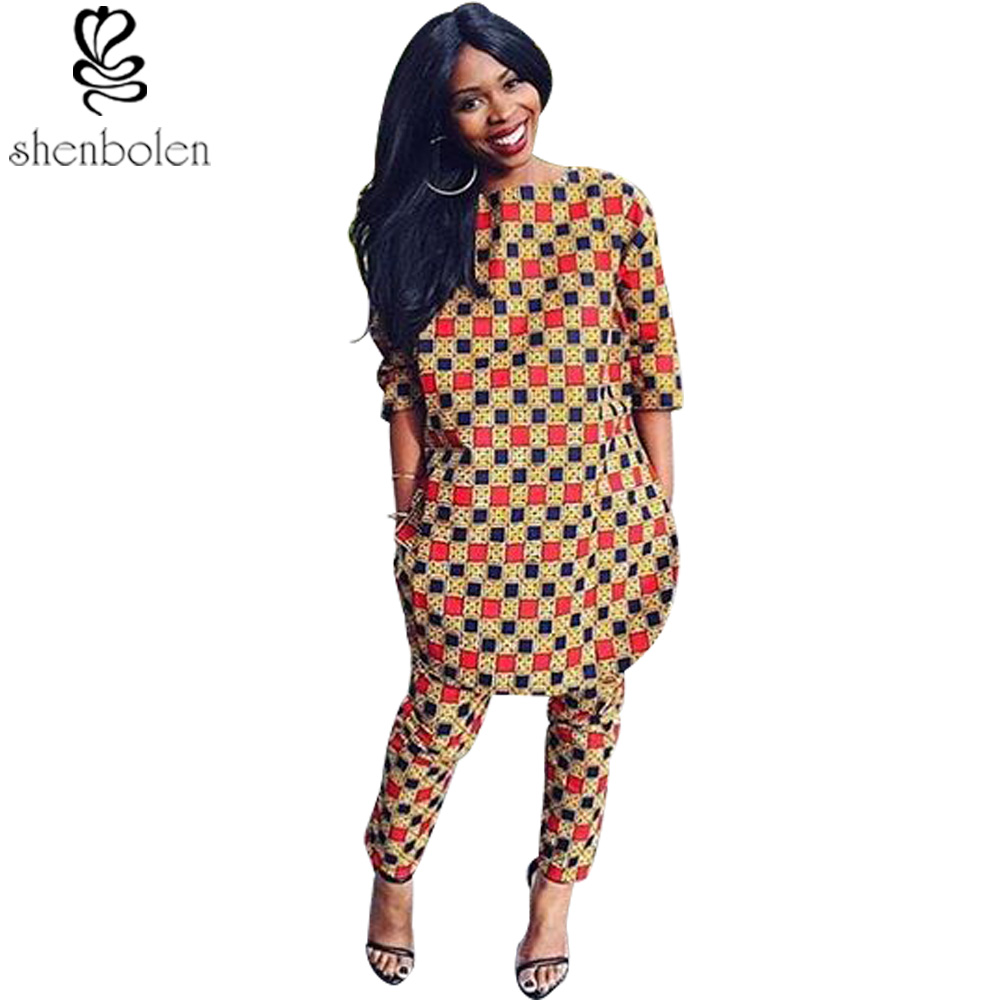 African fashion women s clothing in the summer of 2016 sets of long